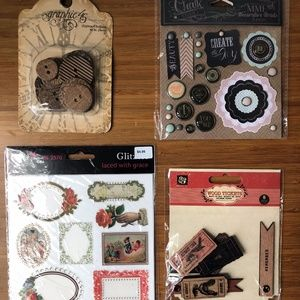 Miscellaneous craft/scrapbooking supplies